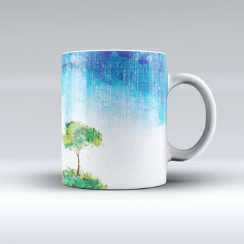 The Individual Tree Splatter ink-Fuzed Ceramic Coffee Mug