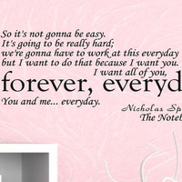 The Notebook Wall Decal Quote