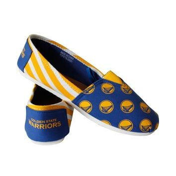 NBA Golden State Warriors 2016 Womens Canvas Stripe Shoes Basketball