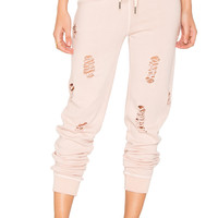 n:PHILANTHROPY Nikki Distressed Sweatpant in Rose | REVOLVE