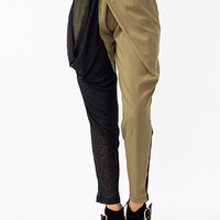 Mixed-Media-Lounge-Pants BLACK OLIVE - GoJane.com