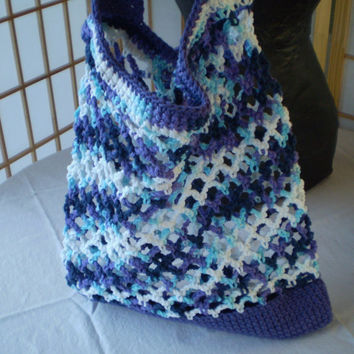 Crochet Market Bag, Grocery Produce Tote, Farmers Market Mesh Bag, Beach Tote - ECO Friendly - 100% Cotton, Beautiful Colors