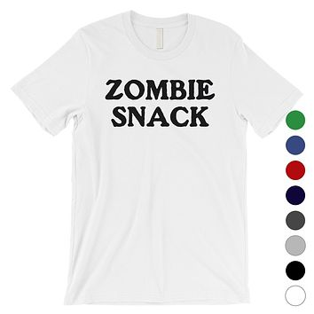 Zombie Snack Mens Silly Accurate Trendy Halloween T-Shirt Gag Gift