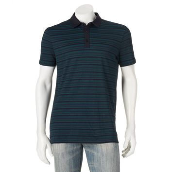 Apt. 9 Modern-Fit Texture-Striped Polo