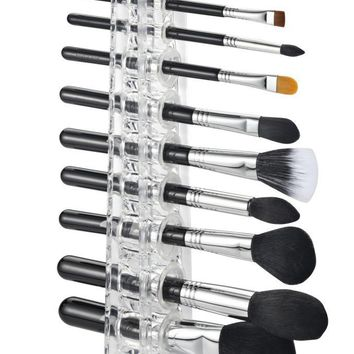 Acrylic Cosmetics 12 Makeup Beauty Brush Stand Organizer