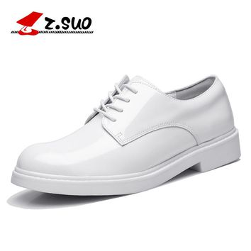 Women's Flats Shoes Patent Leather Leisure White Shoes For Woman Fathion Genuine Cow Leather Oxfords Shoes