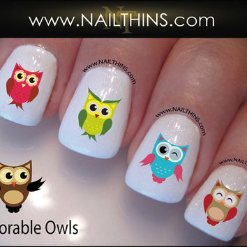 Owls NAILTHINS Nail Art  Nail Decal  Nail Design NAILTHINS