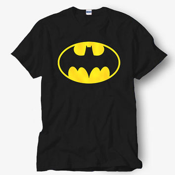 Batman Original Logo Shirt, White Shirt, Popular Shirt Hot Product On USA Size S-M-L-XL