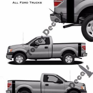 Custom Text Truck Bed Side Stripes Vinyl Decals Fits Ford F150 F250 F350 Ranger