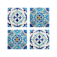 Mediterranean Tile Coasters - Set of 4