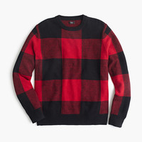 J.Crew Mens Lambswool Buffalo Plaid Sweater