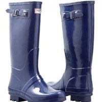Forever Young - Womens Wellie Rain Boot, Navy Blue 37276-8B(M)US