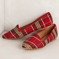 Woven Plaid Loafers