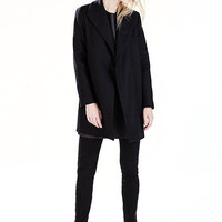 Black Long Sleeve Duster Coat