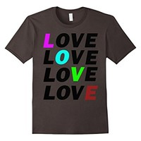 T-Shirt Love Couple Heart Colorful
