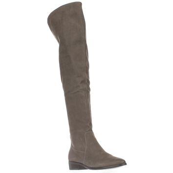 Aldo Chiaverini Over-The-Knee Riding Boots, Grey, 5 US / 35 EU