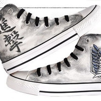 attack on titan converse hand painted converse anime shoes anime converse attack on titan mens shoes