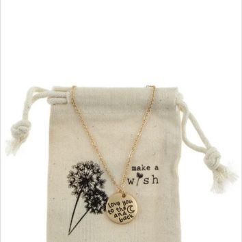 "Make a Wish ""LOVE YOU TO THE MOON AND BACK"" Necklace"