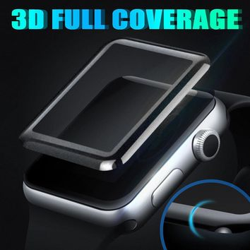 3D curved Fashion Surface 9H Tempered glass film For apple watch 42mm 38mm 44mm 40mm Screen Protector for Apple Series 1 2 3 4
