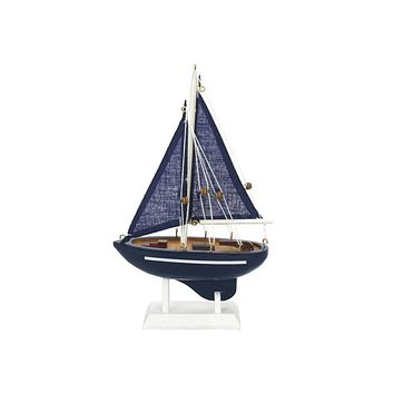 Wooden Deep Blue Sea Model Sailboat 9""