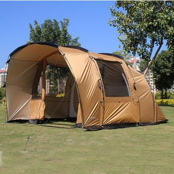 5 6 8 Person Tunnel 2 Bedroom 2 Living Room Waterproof Party Outdoor Camping Tent