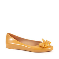 Mel By Melissa Yellow Tangarine Bow Ballet Pumps