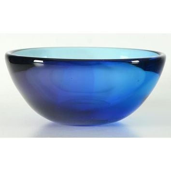 Glass Bowl - Original Hand Blown Glass Vase by Paul Brayton