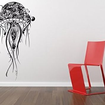 Beautiful Wall Decal Vinyl Sticker Jellyfish Octopus Fish Dolphin Bathroom Bedroom  B420 Part 31