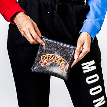 Queen Coin Pouch in Black