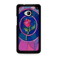 Flower Beauty and the Beast Stained Glass HTC One | M7 case