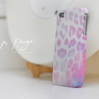Apple iphone case for iphone iphone 5 iphone 5s iphone 4 iphone 4s iPhone 3Gs : cute pink leopard fur ( not real fur )