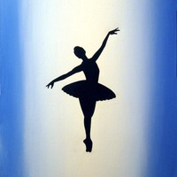 original dance painting silhouette abstract figure painting art canvas - 16 x 20 inches romance, 2014 by Stuart Wright