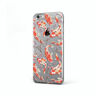 Koi fishes case Samsung Galaxy S8 case Samsung Galaxy S8 Plus case clear Samsung S6 case Samusng S6 Edge Plus case Slicone Samsung S7 case