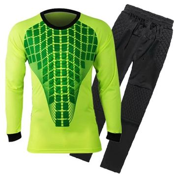 Survetement Football Mens Short Soccer Goalkeeper Jersey Set Quick Dry Goalkeeper Uniform Long Sleeve Team Goal Keeper Full Suit