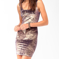 Metallic Velveteen Bodycon Dress