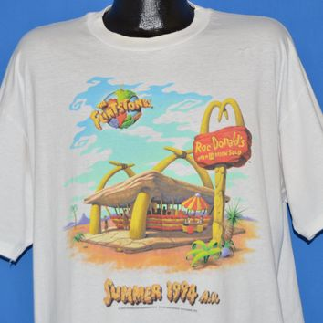 90s Flintstones Movie McDonalds 1994 t-shirt Extra Large