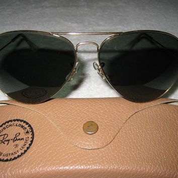 Vintage B&L Ray Ban Aviator Classic 62mm NEW w/o Tags Paddle Temples G-15 Lenses