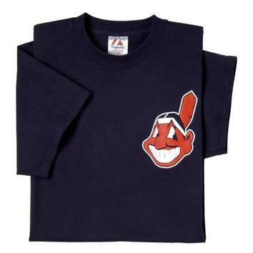 Cleveland Indians (YOUTH SMALL) 100% Cotton Crewneck MLB Officially Licensed Majestic