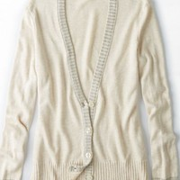 AEO Women's Shimmer Trim Cardigan