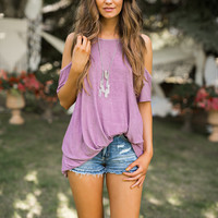 Audrey Knotted Top (Lavender)