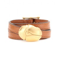 valentino - scarab leather wrap bracelet