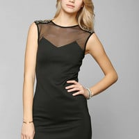 Sparkle & Fade Embellished-Shoulder Bodycon Dress - Urban Outfitters