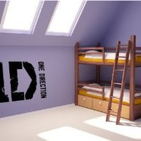 "1 D ONE DIRECTION #1 ~ ONE DIRECTION: Best Priced Decals WALL DECAL, 10"" X 20"""