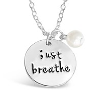Just Breathe Semicolon Necklace