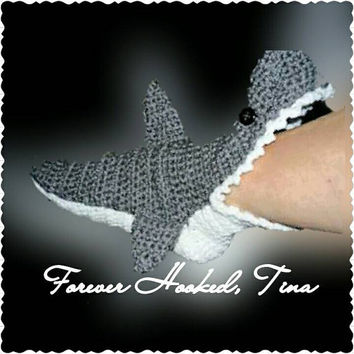 SHARK! For the whole Family Socks, Shark Slippers, Crochet Shark Slipper Socks