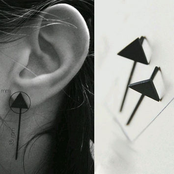 925 Silver Strong Character Simple Design Accessory Korean Fashion Earrings [8740138247]