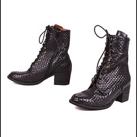 Ross Woven Boots by Jeffrey Campbell | Edge of Urge