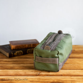 Toiletry bag dopp kit leather dopp bag leather dopp kit leather toiletry bag waxed canvas dopp kit bag wedding gift handmade dopp kit