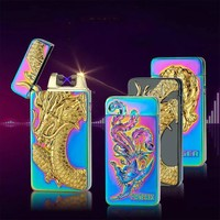 Pulsed Arc Lighter USB Rechargeable Lighter Creative Design Electric Double Arc Plasma Cigarette Lighter Weed Tobacco Smoke