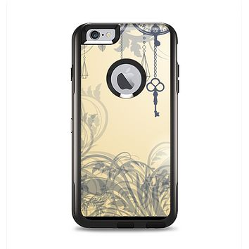 The Vintage Hanging Clocks and Keys Apple iPhone 6 Plus Otterbox Commuter Case Skin Set